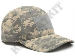 Military Operators Baseball Cap 3 Velcro Patch Panels Army Grey Digital Camo